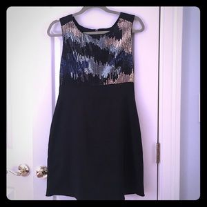 MM Couture sequin black dress